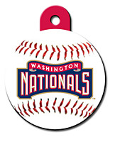 Washington Nationals ROUND Engraved Dog ID Tag