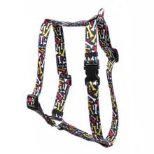 "Crazy Bones Roman Style ""H"" Dog Harness"