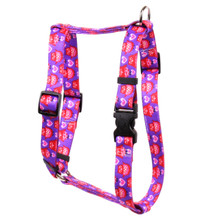 "Valentines Owls Roman Style ""H"" Dog Harness"