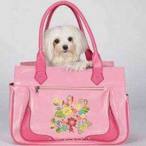 Pink Spring Garden Pet Carrier - Small Size **Clearance**