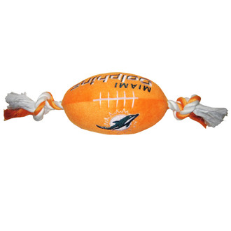 Miami Dolphins NFL Squeaker Football Toy