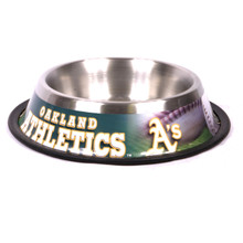 Oakland A's Stainless Steel MLB Dog Bowl
