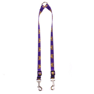 Purple and Gold Skulls Coupler Dog Leash