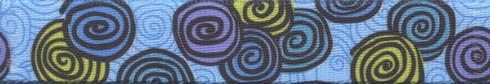 Spirals Blue Waist Walker