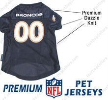 Denver Broncos PREMIUM NFL Football Pet Jersey