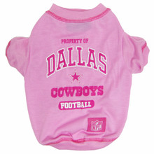 Dallas Cowboys NFL Football PINK Pet T-Shirt