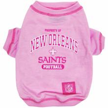 New Orleans Saints NFL Football PINK Pet T-Shirt