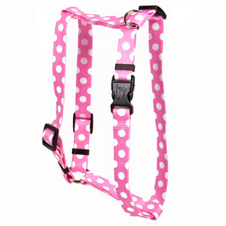 "Watermelon Polka Dot Roman Style ""H"" Dog Harness"