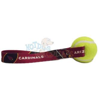 Arizona Cardinals  Tennis Ball Tug Dog Toy