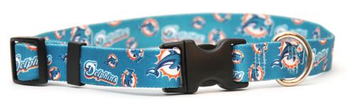 Miami Dolphins Logo Dog Collar