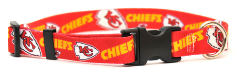Kansas City Chiefs Logo Dog Collar