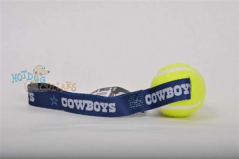Dallas Cowboys  Tennis Ball Tug Dog Toy