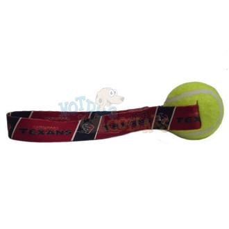 Houston Texans  Tennis Ball Tug Dog Toy