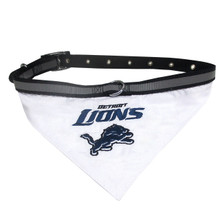 Detroit Lions Bandana Dog Collar