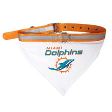 Miami Dolphins Bandana Dog Collar