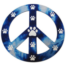 Blue Peace Sign Paw Magnet
