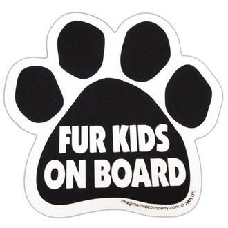 Fur Kids On Board Paw Magnet