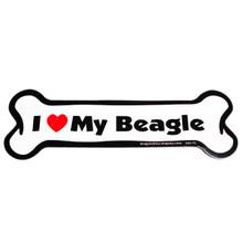 I Love My Beagle Bone Magnet