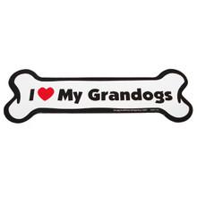 I Love My Grandogs Bone Magnet