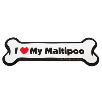 I Love My Maltipoo Bone Magnet