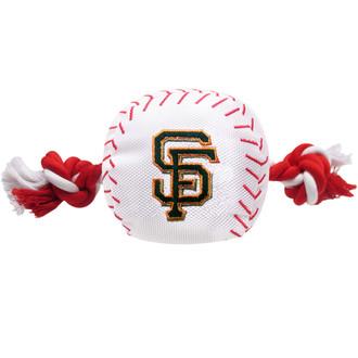 San Francisco Giants Nylon Rope Baseball Squeaker  Dog Toy