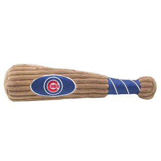Chicago Cubs Baseball Bat Squeaker Dog Toy