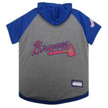 Atlanta Braves Hoodie T-Shirt For Dogs