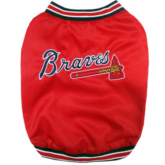Atlanta Braves Dugout Team Jacket For Dogs