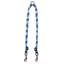 Blue Butterfly Swirl Coupler Dog Leash