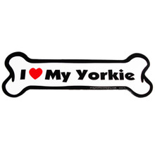 I Love My Yorkie Bone Magnet
