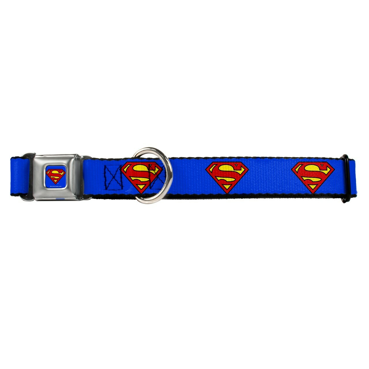 Superman Buckle Down Dog Collar Hot Dog Collars