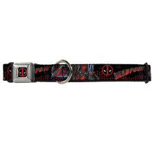 Deadpool Logo Buckle-Down Seat Belt Buckle Dog Collar