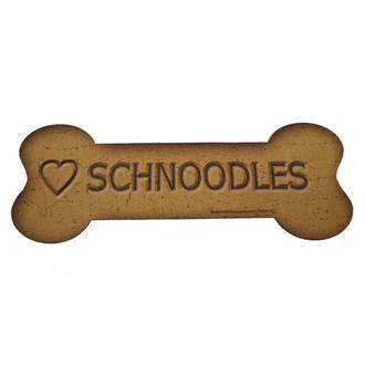 Love Schnoodles Bone Biscuits Magnet