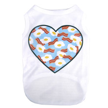 I Love Bacon and Eggs Pet T-Shirt