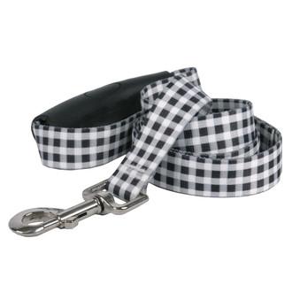 Southern Dawg Gingham Black Premium Dog Leash