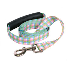 Southern Dawg Gingham Multi Plaid Premium Dog Leash