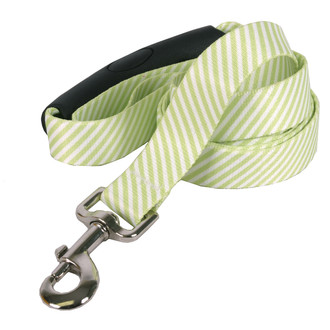 Southern Dawg Seersucker Green Premium Dog Leash