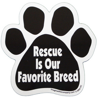 Rescue is Our Favorite Breed Paw Magnet