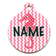 Silly Seahorse HD Pet ID Tag