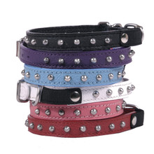 Studded Leather Cat Collar