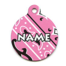 Bandana Pink HD Pet ID Tag