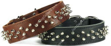 Spiked Leather Brutus Dog COLLAR