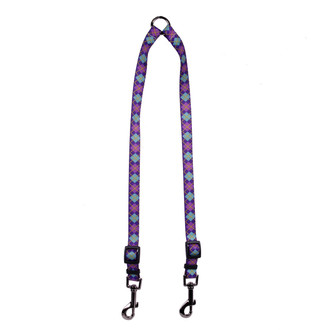 Argyle Purple Coupler Dog Leash