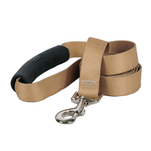 Tan Simple Solid EZ-Grip Dog Leash