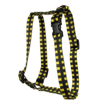 Buffalo Plaid Yellow Roman Style H Dog Harness