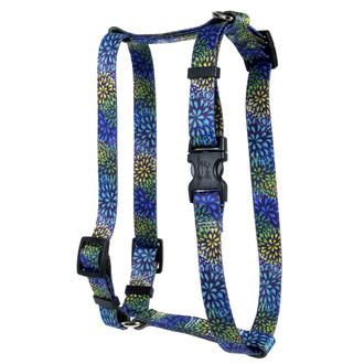 Flowerworks Blue Roman Style H Dog Harness