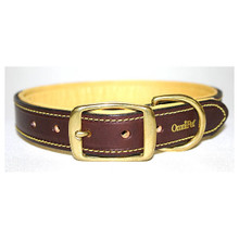 Deer Tan Leather Dog Collar