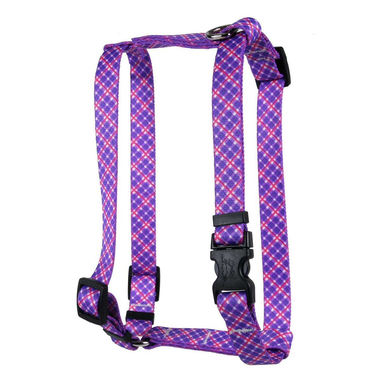 hot pink plaid dog harness girlie dog harness elsavadorla. Black Bedroom Furniture Sets. Home Design Ideas
