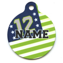 12th Dog Flags HD Pet ID Tag