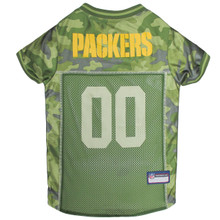 Green Bay Packers NFL Football Camo Pet Jersey